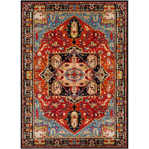 Serapi Red Rectangle: 5 Ft. 3 In. x 7 Ft. 3 In. Rug