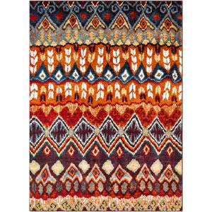 Serapi Orange Rectangle: 5 Ft. 3 In. x 7 Ft. 3 In. Rug