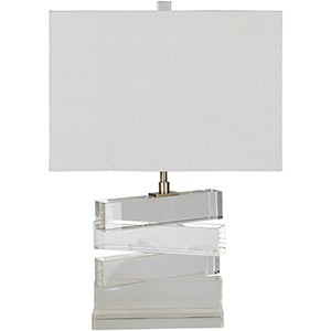 Surrey Clear One-Light Table Lamp