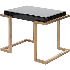 Saavedra Copper Accent Table
