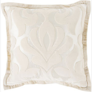 Sweet Dreams Pastel Pink and Ivory 20-Inch Pillow with Poly Fill