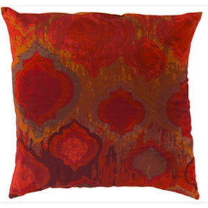Exquisite in Ikat Burnt Orange 18-Inch Pillow with Poly Fill