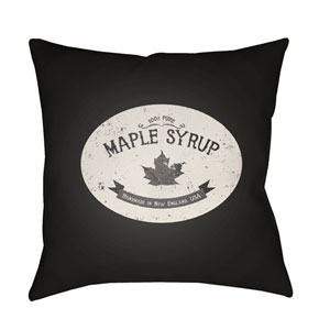 Black Maple Syrup 20-Inch Throw Pillow with Poly Fill