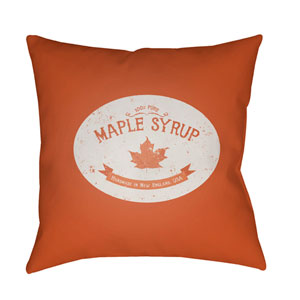 Orange Maple Syrup 18-Inch Throw Pillow with Poly Fill