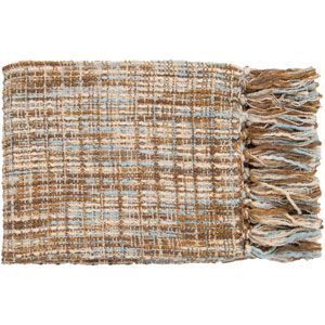 Tabitha Sky and Beige Mixed Woven Throw