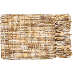 Tabitha Yellow and Beige Mixed Woven Throw