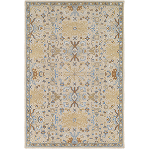 Tabriz Khaki Rectangular: 5 Ft. x 7 Ft. 6 In. Rug