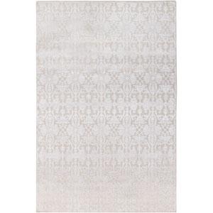 Tidal Khaki and White Rectangular: 6 Ft. x 9 Ft. Rug