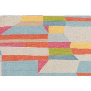Technicolor Multicolor Rectangular: 8 Ft. x 10 Ft. Rug