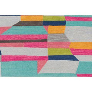 Technicolor Multicolor Rectangular: 2 Ft. x 3 Ft Rug