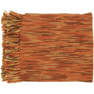 Teegan Rust and Brown 55 x 78 Throw