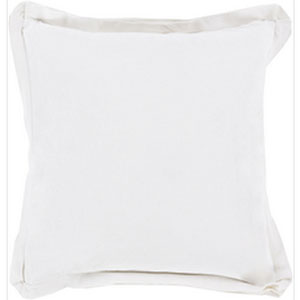 Simple Sophistication Ivory 20-Inch Pillow with Down Fill