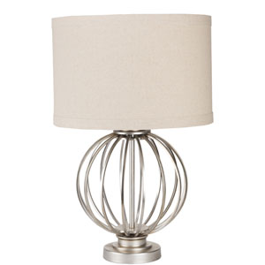 Thela Antique Silver One-Light Table Lamp