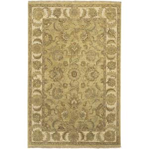Timeless Beige and Gold Rectangular: 2 Ft. by 3 Ft. Rug