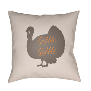 White Turkey 20-Inch Throw Pillow with Poly Fill