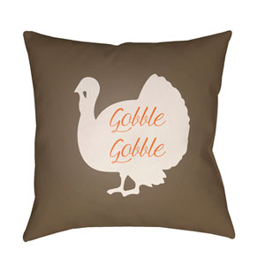 Brown Turkey 20-Inch Throw Pillow with Poly Fill