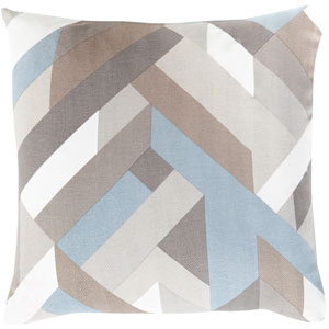 Teori Blue and Neutral 20-Inch Pillow Cover