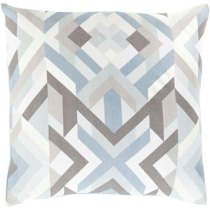 Teori Blue and Gray 18-Inch Pillow Cover