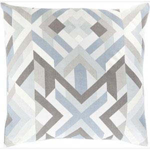 Divine Diagrammatic Multicolor 22-Inch Pillow with Down Fill