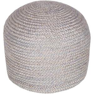 Gray Tropics Sphere Pouf