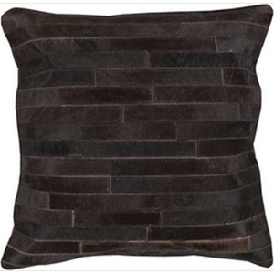 Hidden Trail Charcoal and Black 18-Inch Pillow with Down Fill