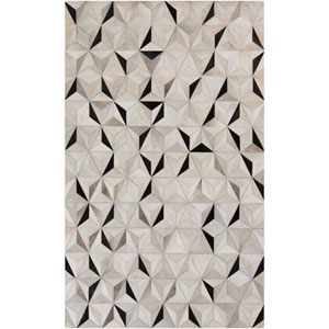 Trail Charcoal and Gray Rectangular: 2 Ft x 3 Ft Rug