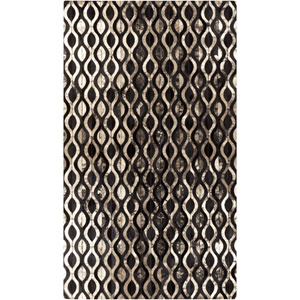 Trail Black and Gold Rectangular: 2 Ft x 3 Ft Rug