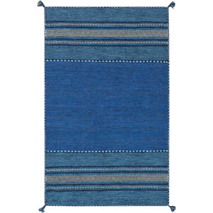 Trenza Sky Blue and Cobalt Rectangular: 2 Ft x 3 Ft Rug