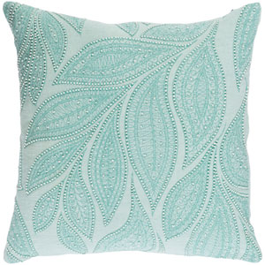 Tansy Green and Neutral 20-Inch Pillow with Down Fill