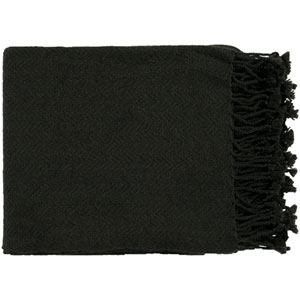 Turner Black Throw