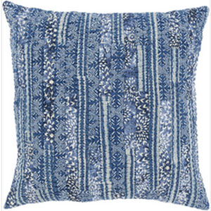 Townsend Navy 20-Inch Pillow with Down Fill
