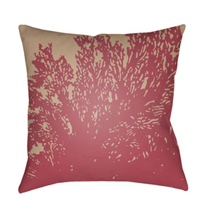 Textures Fuchsia and Taupe 18 x 18-Inch Pillow