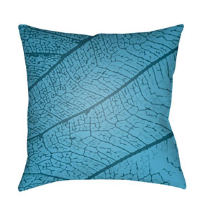Textures Bright Blue and Sky Blue 18 x 18-Inch Pillow