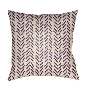 Textures Violet and Beige 22 x 22-Inch Pillow