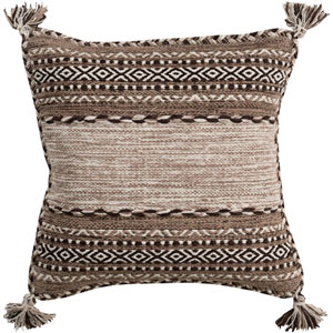Trenza Brown 22-Inch Pillow Cover