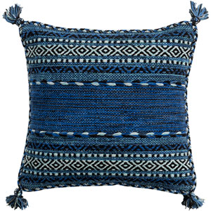 Trenza Blue 22-Inch Pillow Cover