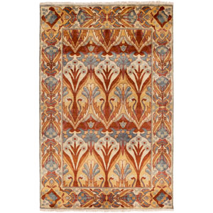 Uncharted Rust and Coral Rectangular: 2 Ft x 3 Ft Rug