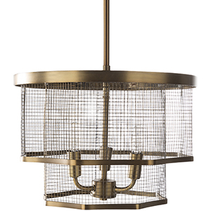Vail Brass Three-Light Pendant