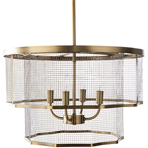 Vail Brass Four-Light Pendant