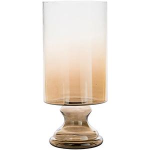 Vanburen Large Tan Ombre Hurricane Vase