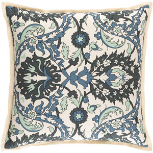 Vincent Green and Blue 18-Inch Pillow Cover