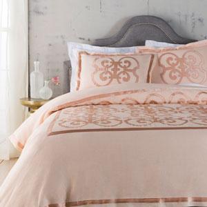 Versaille Pink Three-Piece Full/Queen Duvet Set