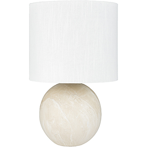 Vogel Cream and White One-Light Table Lamp