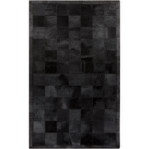 Vegas Black and Gray Rectangular: 2 Ft x 3 Ft Rug