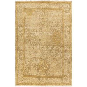 Victoria Olive and Dark Brown Rectangular: 5 Ft. 6 In. x 8 Ft. 6 In. Rug