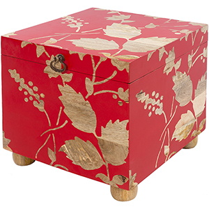 Valaria Bright Red Storage Cube