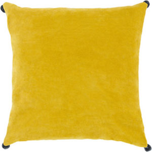 Vivacious Velvet Lemon 18-Inch Pillow with Poly Fill