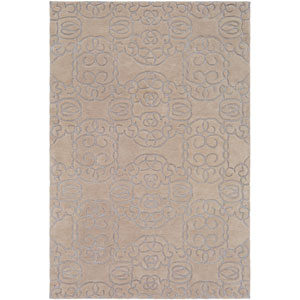 Vernier Cream and Light Gray Rectangular: 5 Ft. x 7 Ft. 6 In. Rug