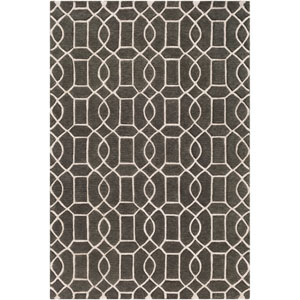 Vernier Charcoal and Sea Foam Rectangular: 8 Ft. x 10 Ft. Rug