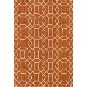 Vernier Burnt Orange Rectangular: 8 Ft. x 10 Ft. Rug